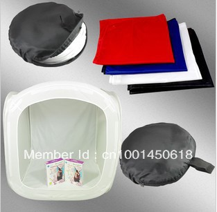 """free shipping 20"""",50*50*50cm cube photographic / photo light tent + 4 brackdrops + portable bag for soft box Photography studios(China (Mainland))"""