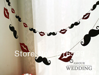 Hot Sale 12pcs/set MUSTACHE LIPS Wedding /Birthday Party Photography Shipping