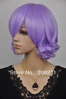 Fashionable Costume Hairstyle hair wigs short Purple Wig 10pcs/lot Free shipping