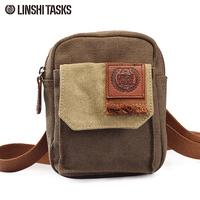 Retro linshitasks finishing bag messenger bag waist pack canvas bag casual bag sports backpack