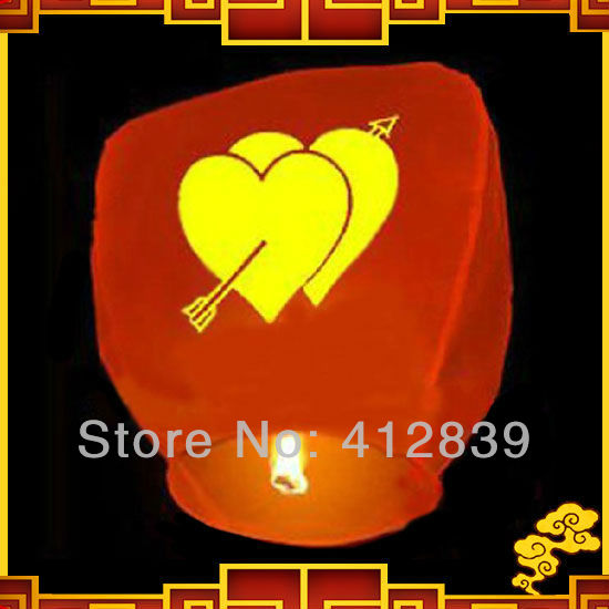 Free shipping,2pcs/lot Weeding party Sky Lantern Wishing Lanterns,Flying Light for valentine's day,Factory Direct Sale(China (Mainland))