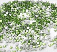 2 MM 1440 PCS Flatback Glass Rhinestones Light Green Glitter for Nail Art Decoration -1440PCS