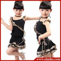 2013 autumn Kid's girls leopard print Sexy club Latin dance dress ballroom trainning dresses costume leotard FREE SHIPPING CD073