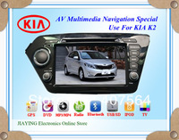 Car DVD for KIA K2 RIO ( 2012) with 3G Host GPS 4GB IGO Navitel map built in FM bluetooth TV IPOD 4GB Free Sony CCD camera