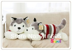 2013 NEW Big Stuffed Plush Animal Toy Cute Soft 75CM Husky Dog Children&#39;s Gift Stuffed Animals Free Shipping(China (Mainland))