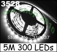 5 x 5M White 3528 SMD LED Flexible Strip 300 LEDs 500CM