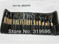 2013 hot 24 pcs pro Goat hair makeup brushes,makeup tools/freeshipping