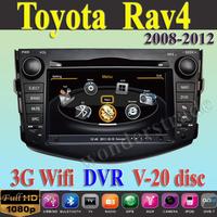 Car DVD Player autoradio GPS Toyota Rav4 2008 2009 2010 2011 2012  + 3G WIFI + V-20 Disc + 1GB cpu + DDR 512M RAM + A8 Chipset