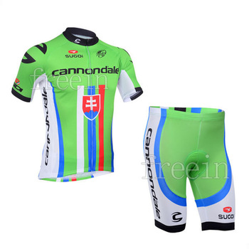 2014 cannon Slovakia Unisex new Styles Free Shipping Hot bike bicycle clothing Team cycling Jersey&Short D2067