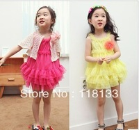 Wholesale - >> Summer 2013 chiffon dress girl skirt Lace  Swan Sarafans lace dress dress princess dress