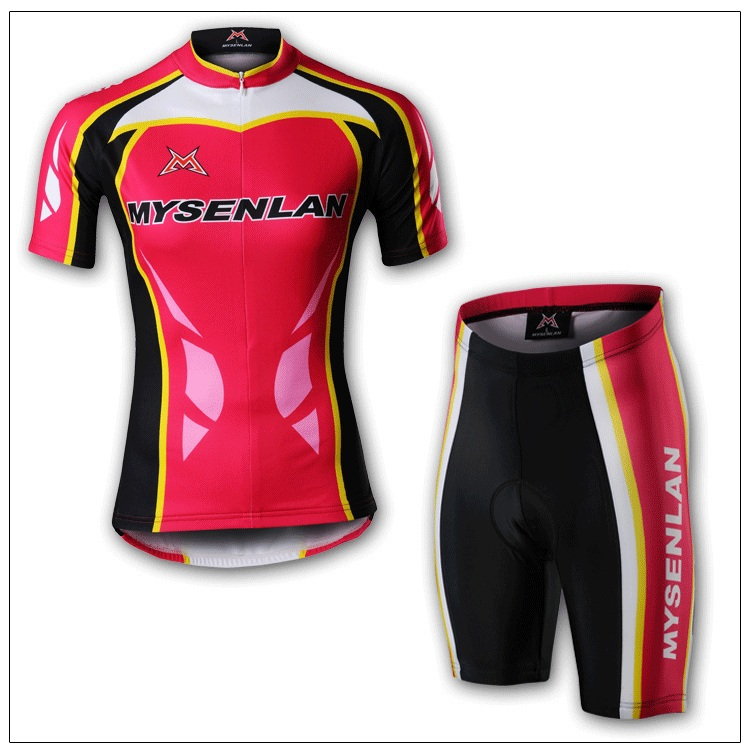 2013 NEW!Free shipping+pad COOLMAX+Polyester+WOMEN MYSENLAN bicycle apparel Cycling wear/bikes wear short sleeve jersey M010-4(China (Mainland))