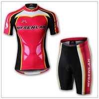 2013 NEW!Free shipping+pad COOLMAX+Polyester+WOMEN MYSENLAN bicycle apparel Cycling wear/bikes wear short sleeve jersey  M010-4