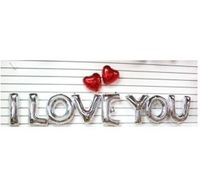 """For Wedding, New Decoration Mylar Foil Balloon Large Letter """"I love you"""" Full Alphabet Silver/Gold + Free Shipping"""