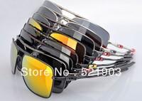 Men's sunglasses DEVIATION Metal Silver frame black logo gray Polarized lens sport sunglasses
