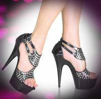 Woman Ultra High Heels Sexy Sandal Sexy High-Heeled Shoes Platform Crystal Shoes