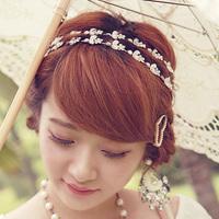 Free Shipping Rhinestone Mercuryduo 76092 Small Flower Hair Band Hair Accessory Bands Female Wholesales