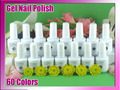 nail varnish Soak Off Uv Led Gel Nail Acrylic Polish Set 8 Color Gel 2 Free Base 2 Free Top Coat CNF uv gel polish