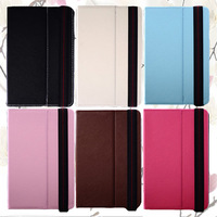 New ! 7 inch tablet case with adjustable stand, PU leather cover with moveable stand, free shipping, multi color.