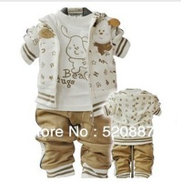 free shipping!Boys 2013 new spring children suit baby clothes baby sportswear three-piece