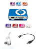 DropShipping New Mini Clip MP3 Player+earphone+cable Free Shipping(China (Mainland))