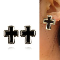 Accessories pd punk cross c33 personalized fashion stud earring