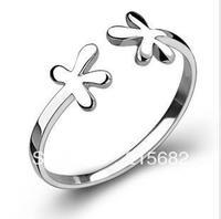 Italina Valentine gift 925 Sterling Silver bloom season opening flower ring stylish compact free shipping  Kedol-SL11