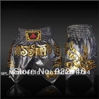 2013  Double Muay Thai pants, boxer shorts, Kau Lung QJ107-1 Gold A high-quality flash velvet shorts