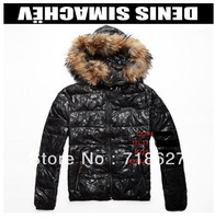 free shipping-new 2013 russia latest raccoon Maojing Dian with floral patterns men's warm down jacket
