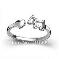 Italina Boutique Valentine's gift love Trojan 925 sterling silver rings female Korean cute dog opening ring Kedol-SL3