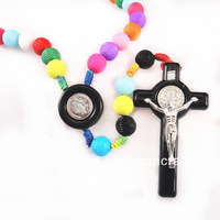 acrylic religious rosary with cross pendant