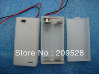 2pcs*AA/LR06 battery holder in white  with slide cover ,switch ,100pcs/lot