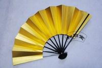 Japanese style gold sivler fan bat fan one side golden color one side silver color 2pcs/lot