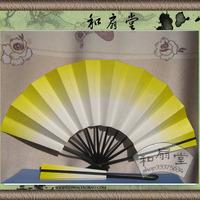 Japanese style chopsticks fan bat fan dance fans gradient yellow color 2pcs/lot