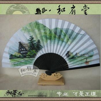 Folding fan paper fan - small  2pcs/lot