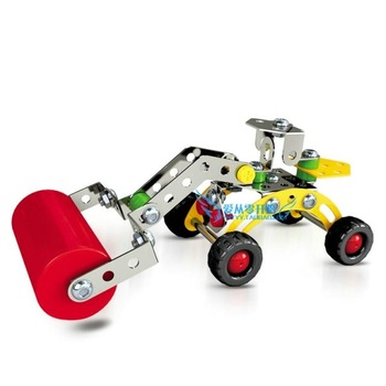 Diy metal alloy assembling educational toys engineering car model motorcycle