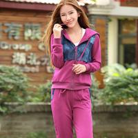 free shipping 2013 spring female long-sleeve sweatshirt fashion women sportswear set slim women's sports
