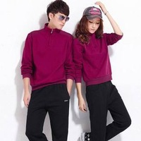 free shipping 2013 spring lovers design sportswear set cotton sweatshirt casual set sportswear
