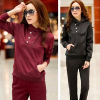 Women's casual sportswear set pullover sweatshirt sports set
