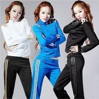 free shipping 2013 spring Women sports trousers casual set slim cardigan long-sleeve sweatshirt