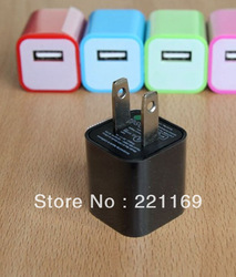 Colorful USA Micro USB Travel Power Adapter Charger for iPhone 4/3 iPod MP3/4, 50 pcs/lot +DHL Free Shipping(China (Mainland))