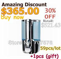 Crazy 59+1 Manual Single Liquid Soap Dispenser Hi-Q Plastic Lotion Hand Dispensers Wall Mounted Free Shipping TSD17C