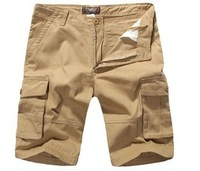 New 2014 summer casual multi-pocket pants capris male beach pants plus size tooling shorts ,Free shippng china post
