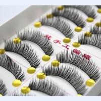 Free Shipping Thick Handmade False Eyelashes Fake Eye Lashes Extension Soft Cross Design Makeup 50pairs/lot #6