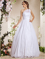 Listen ! Smelling... Yesterday Once M......Sheath/ Column Sweetheart Court Train Chiffon Lace Wedding Dress
