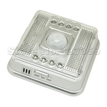 8 LED Light White Lamp PIR Auto Sensor Action Move Motion Detection Detector