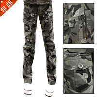 army cargo pants Spring Camouflage pants female trousers outdoor camouflage women's multi-pocket Camouflage casual pants
