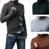 Uyuk autumn and winter fashion men even gloves slim turtleneck sweater basic 1050