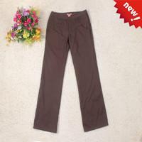 Women's pocket straight 2013 women's long trousers