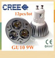 12pcs GU10 9W 12W 15W 3x3W 4x3W 5x3W 85-265V Dimmable High power CREE LED Spot Light Bulb Spotlight downlight lamp