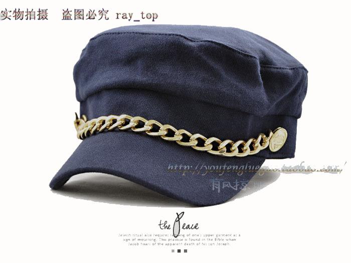 Primavera e no outono marinha cap chapéu cap estudante cadete chapéu chapéu do marinheiro das mulheres(China (Mainland))